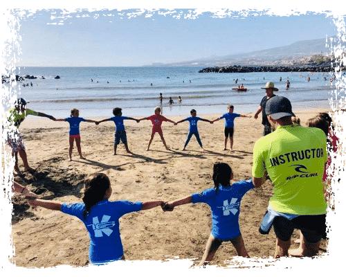 Foto de portada de nuestra peque school para niños en K16 Surf School Tenerife - Lás Américas.