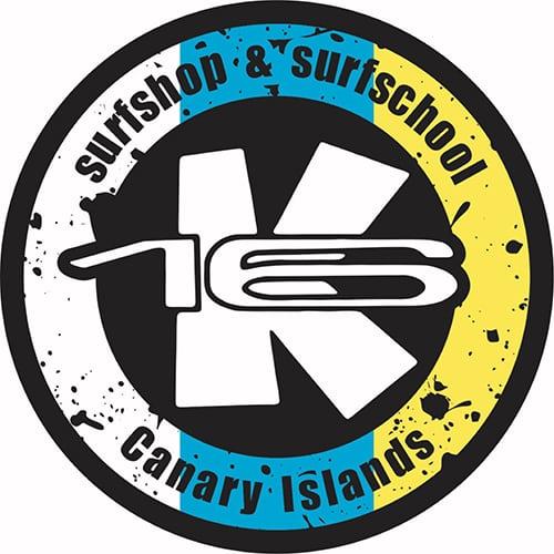 Logo oficial de K16 Surf School & Surf Shop Tenerife.
