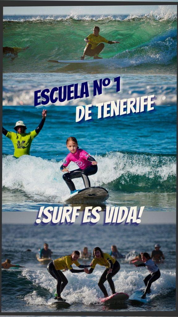 Foto de portada de nuestra pagina web en dispositivos móviles. Ven a surfear con la escuela número 1 de Tenerife.